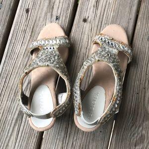 Aerosoles sz 7 strappy glitter sandals